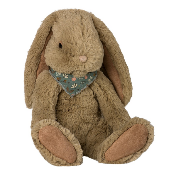 Maileg Large Fluffy Bunny, Dusty Brown