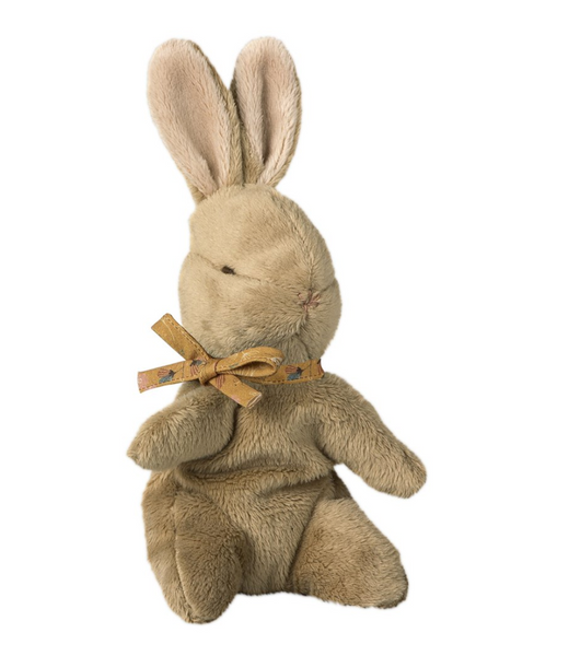 Maileg Brown Baby Bunny with Ocher Ribbon