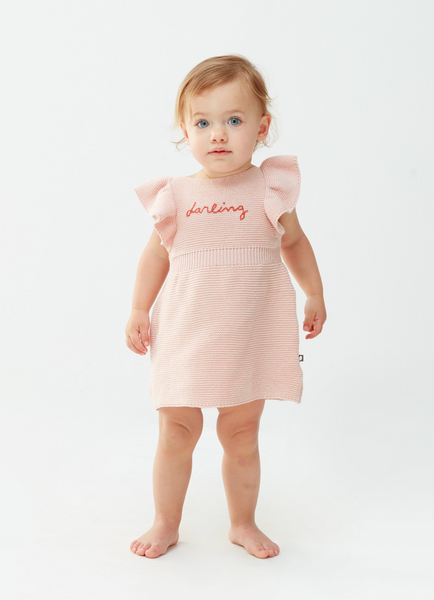 Oeuf Butterfly Sleeve Darling Dress