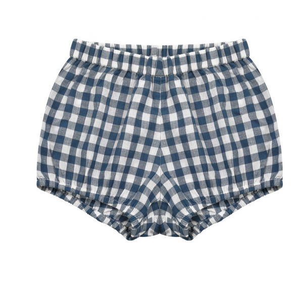 Little Cotton Clothes Poppy Bloomers in Blue Gingham