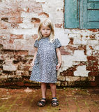 Little Cotton Clothes Mimi Dress in Blue Floral