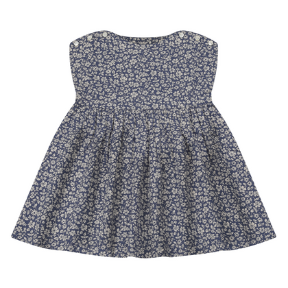 Little Cotton Clothes Rosie Dress in Blue Floral