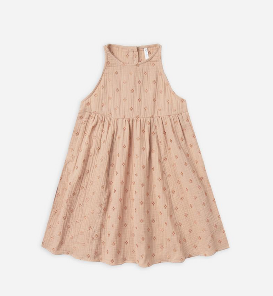 Rylee & Cru Emb Zoe Dress in Blush