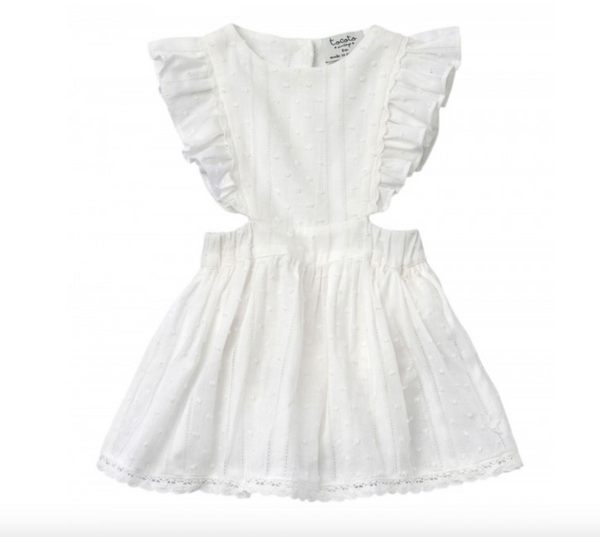 Tocoto Vintage Plumeti Dress in White