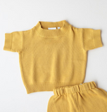Summer & Storm Cotton Knit Tee in Sunshine