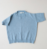Summer & Storm Cotton Knit Tee in Sky