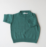 Summer & Storm Cotton Knit Tee in Emerald