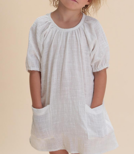 Summer & Storm Smock Dress in White