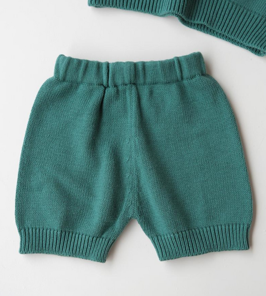 Summer & Storm Cotton Knit Short in Emerald