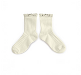 Collegien Lace Ankle Socks - Cream