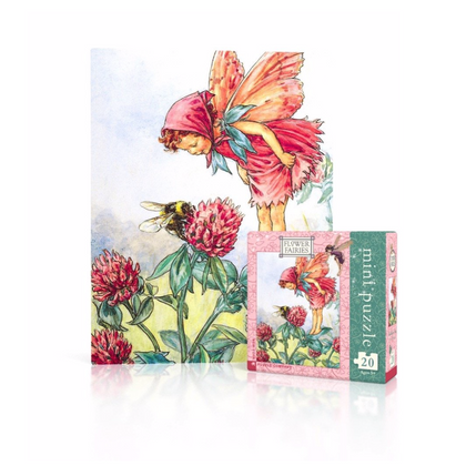 Flower Fairy Mini Puzzle  - Red Clover Fairy