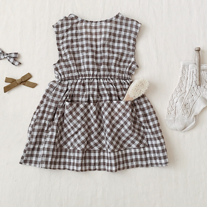 Soor Ploom Orla Dress in Gingham Voile