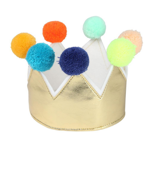 Meri Meri Gold Pom Pom Crown