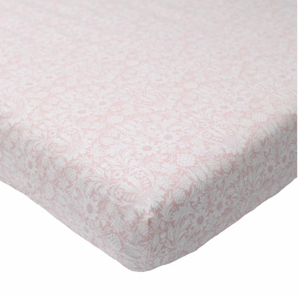 Coco & Wolf Liberty Print Crib Sheet - Mortimer Pink