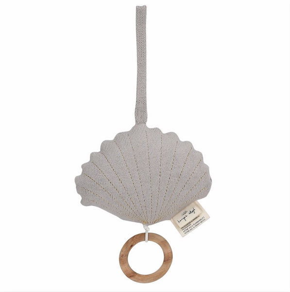 Konges Shell Music Toy  - Light Grey