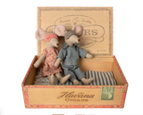 Maileg Mouse, Mum and Dad in Cigar Box