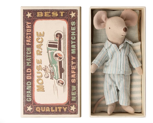 Maileg Big Brother Mouse - Stripe Pajamas