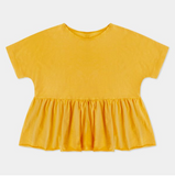 Repose AMS Ruffle Tee in Yellow Gold