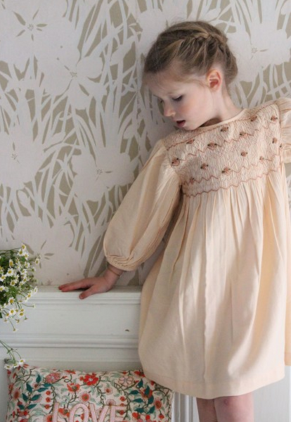 Bonjour Diary Butterfly Dress with Smocking