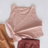 Summer & Storm Cotton Tank in Dusty Rose