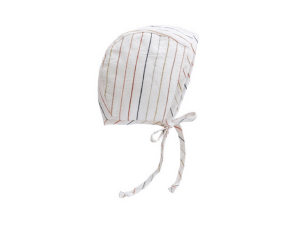 Briar Handmade Bonnet in Rainbow Stripe