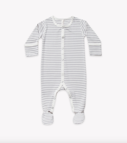 Quincy Mae Striped Footie