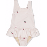 Konges Soleil Girls Swimsuit in Cherry