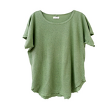 Nico Nico Cropped Dylan Tee in Green