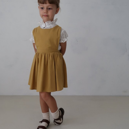 House of Paloma Iris Pinafore in Marigold