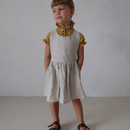 House of Paloma Iris Pinafore in Stone