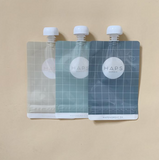 Haps NORDIC Reusable Smoothie Bags  - Blue/Grey 3 Pack