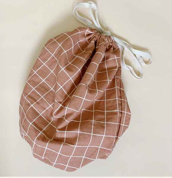 Haps NORDIC Large Multi Bag in Check - Terracotta