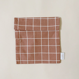 Haps NORDIC Sandwich Bag in Check - Rose, Mustard, Sky, Terracotta