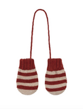 Bobo Choses Red Striped Mittens