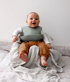 Dove and Dovelet Silicon Bib in Apricot