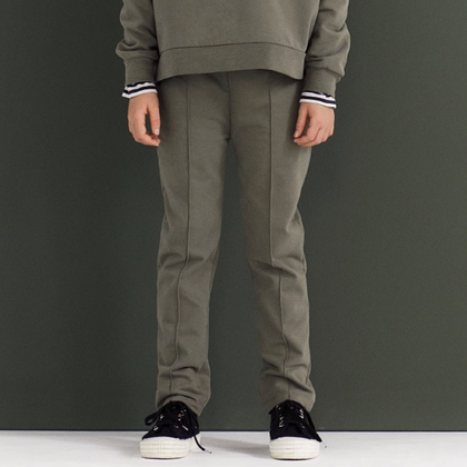 Gray Label Slim Fit  Trouser in Moss
