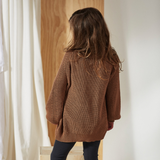 Bacabuche Oversized Pima Cotton Cardigan - Camel
