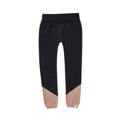 Bacabuche Pima Cotton Colorblock Legging - Navy + Blush