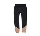 Bacabuche Pima Cotton Colorblock Legging - Charcoal + Blush