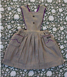 Bonjour Diary Apron Dress with Piping