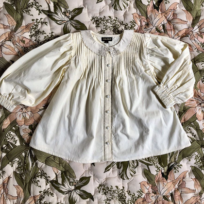 Bonjour Diary Madeleine Blouse with Emb in Ivory