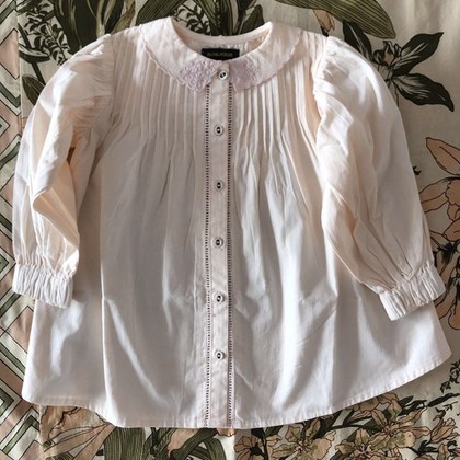 Bonjour Diary Madeleine Blouse with Emb in Pale Pink