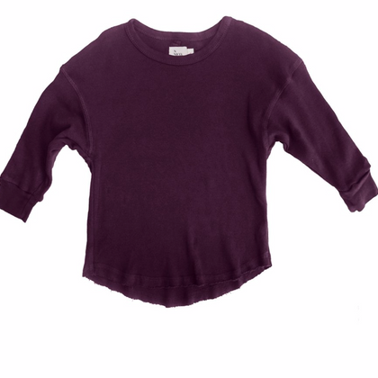 Nico Nico Zen Pointelle L/S in Berry
