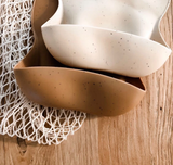 Dove and Dovelet Silicon Bib in Speckled Sandstone