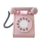 Kiko + gg Retro Wooden Telephone in Pink