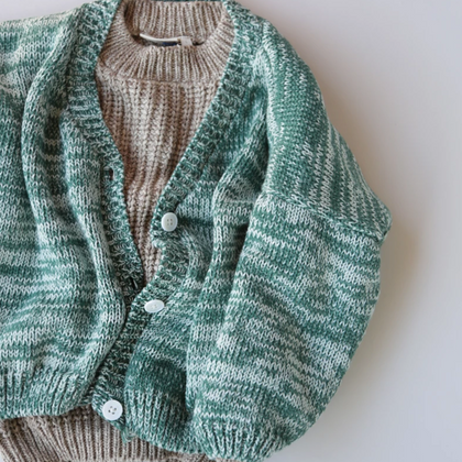 Summer & Storm Chunky Classic Cardigan  - Forest