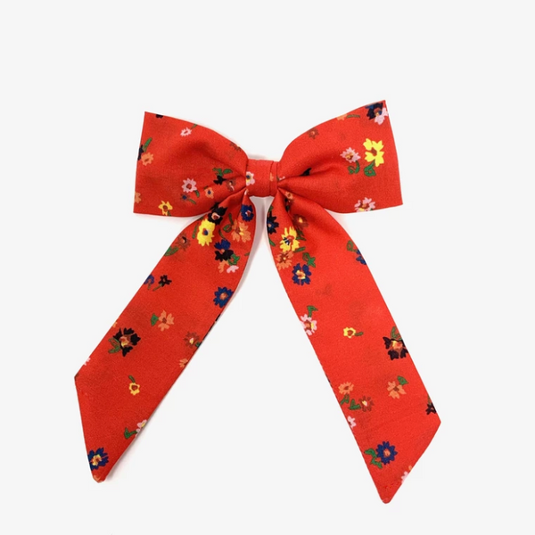 Lulu Loves Classic Hair Bow in Red