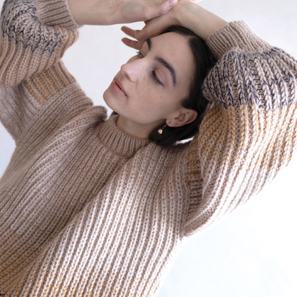 Micaela Greg Flax Ombre Sweater
