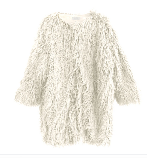Nico Nico Kamala Faux Fur Coat in Snow