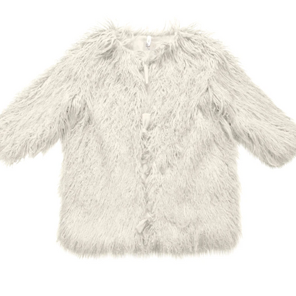 Nico Nico Kids Kamala Faux Fur Coat in Snow